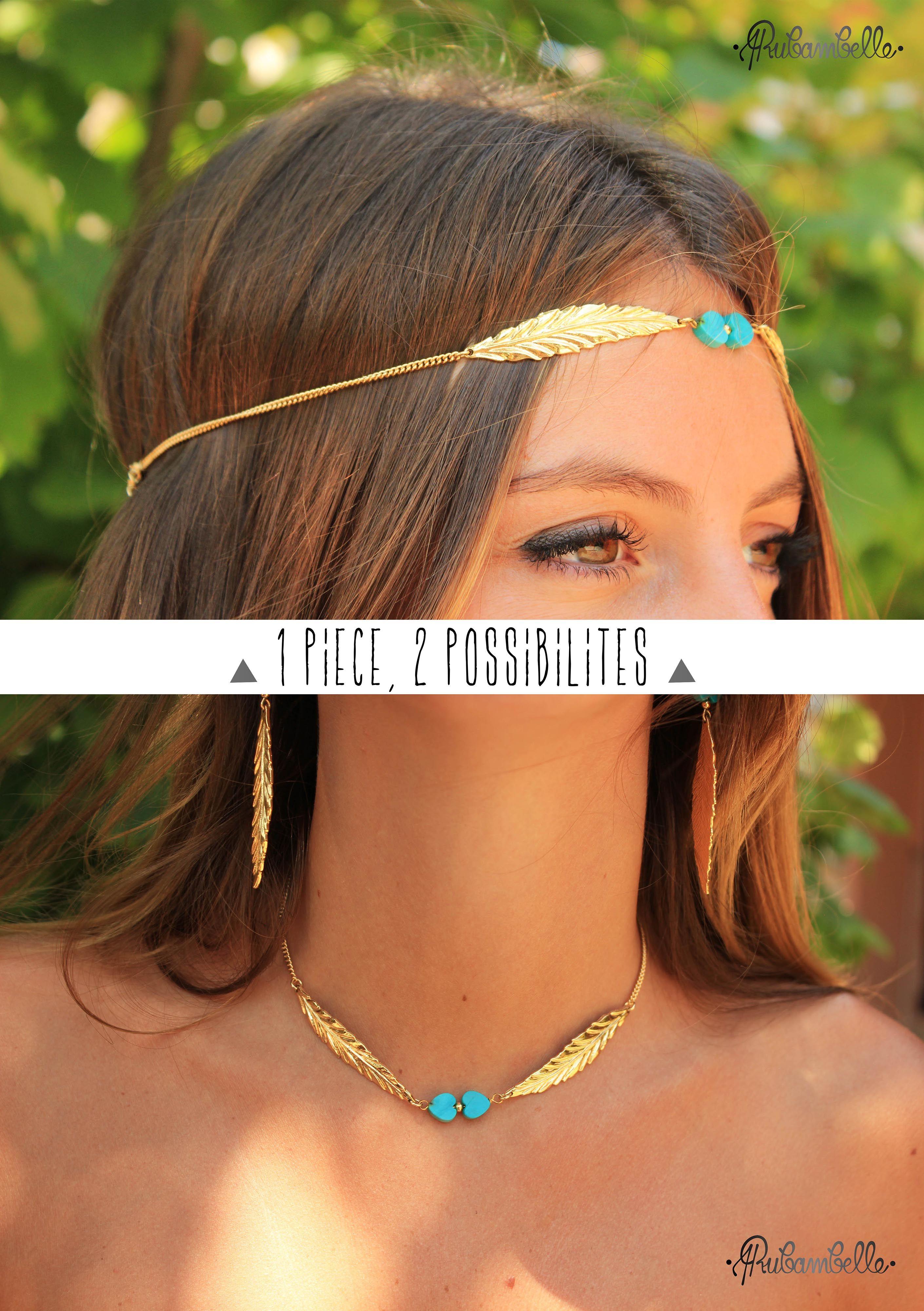 Collier   Headband Plume Rubambelle   1 piece 143748ad563