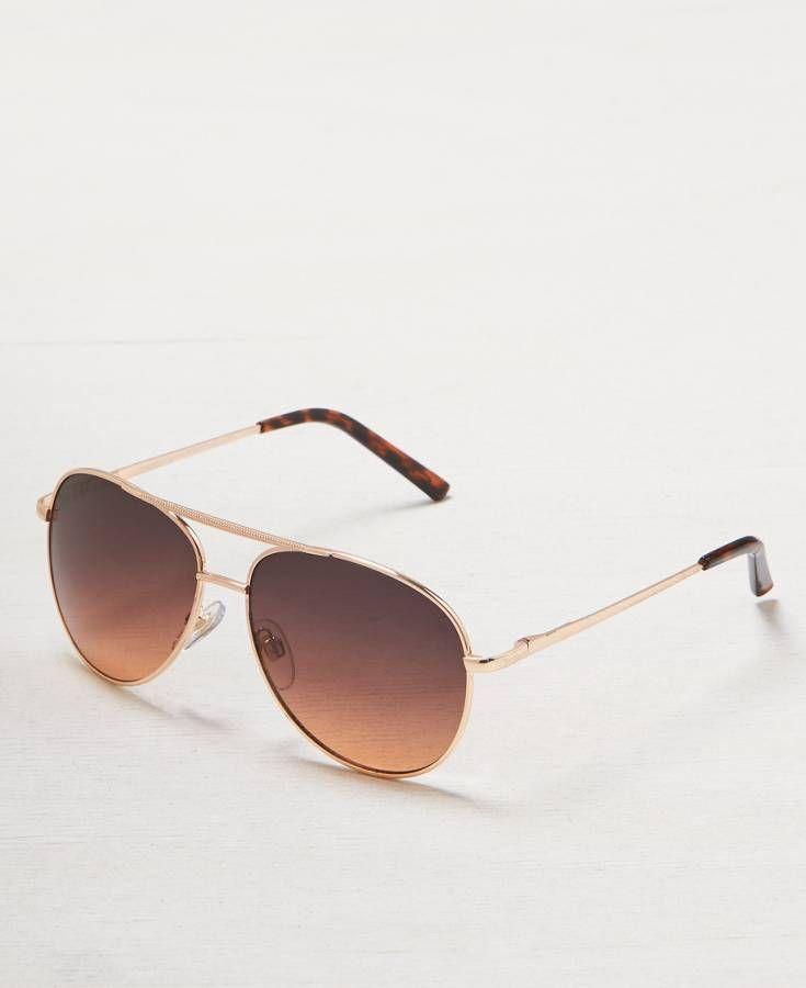 4cbeaf46f163 American Eagle Ombre Tinted Aviator Sunglasses | *Accessories*