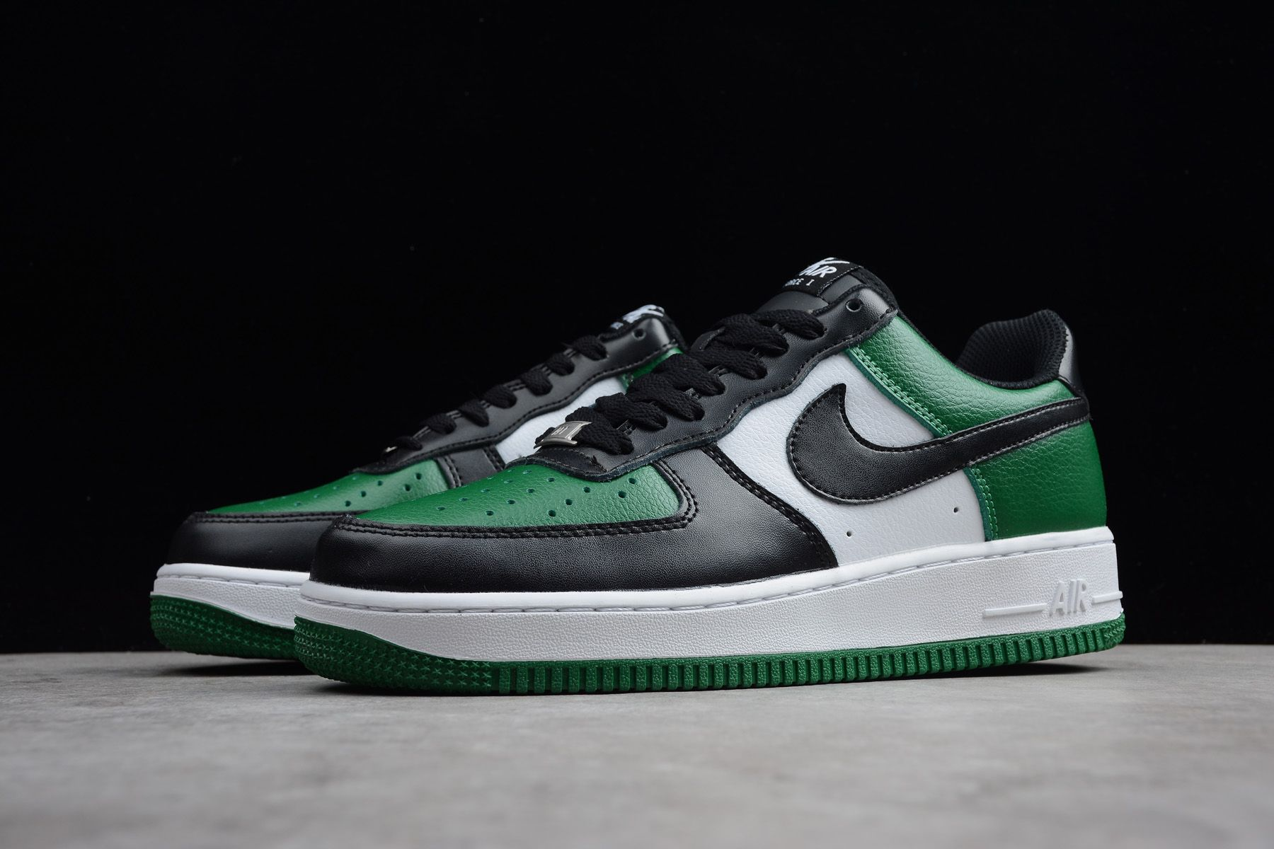 Nike Air Force 1 Low Black-White Pine Green Men s Size 315112-302 ... 08fd1b127