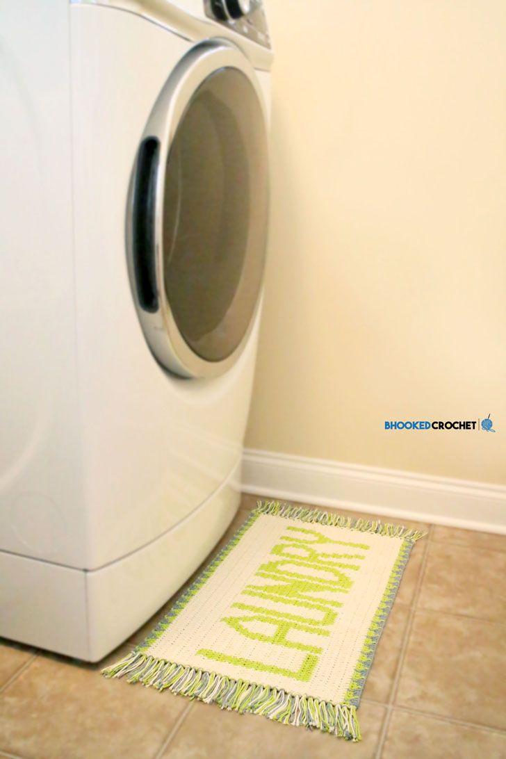 Laundry Mat Tapestry Crochet Rug Free Pattern Tutorial