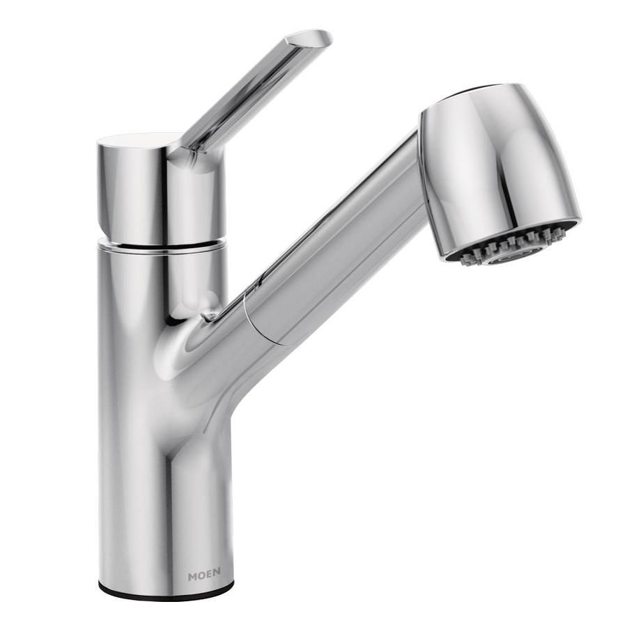 Moen Method Chrome 1 Handle Deck Mount Pull Out Commercial