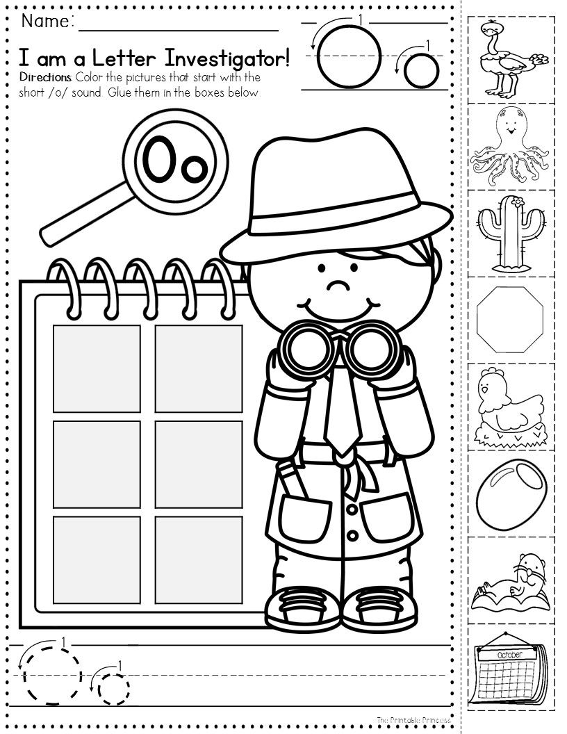Letter Investigators Such A Cute Theme For Teaching Beginning Sounds Love That There Beginning Sounds Worksheets Kindergarten Learning Learning Worksheets [ 1056 x 816 Pixel ]