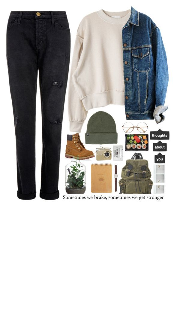 """""""Sometimes we brake sometimes we get stronger"""" by asivol00 ❤ liked on Polyvore featuring Current/Elliott, Timberland, Billabong, Burberry and J.Crew"""