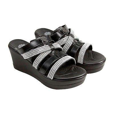 9046fea259ff6f Sandals and Flip Flops 62107  Harley-Davidson Kellway Womens Black Leather Flip  Flops Slip
