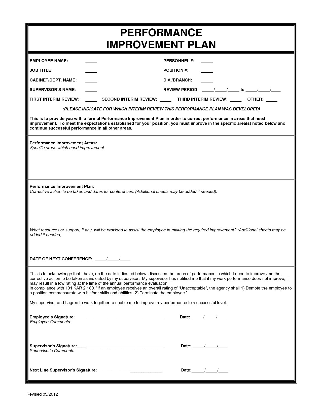 Free Employee Performance Evaluation Form Template HttpItzMy