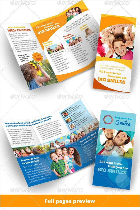exceptionnel 21+ Kindergarten Brochure Templates u2013 Free PSD, EPS, AI, InDesign, Word