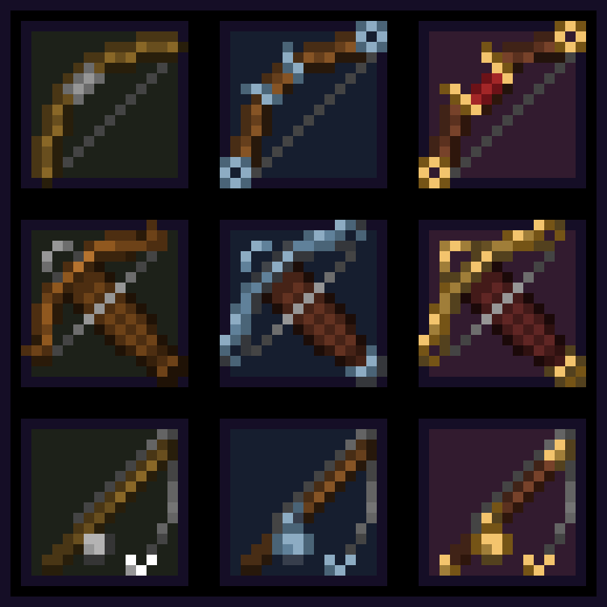 Decided To Try And Make Upgraded Versions Of Bow Crossbow And Fishing Rod What Do You Think By U Ksym Minecraft Art Minecraft Images Minecraft Crafts