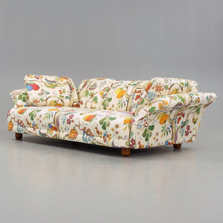 JOSEF FRANK, A U0027Liljevalchsu0027 Sofa, Upholstered In Franku0027s Fabric U0027Vegetable  Treeu0027. Pictures Gallery