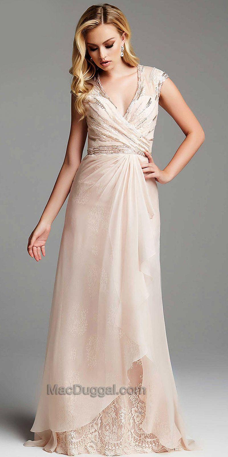Cascading Wrap Embellished Evening Dress by Mac Duggal #edressme ...