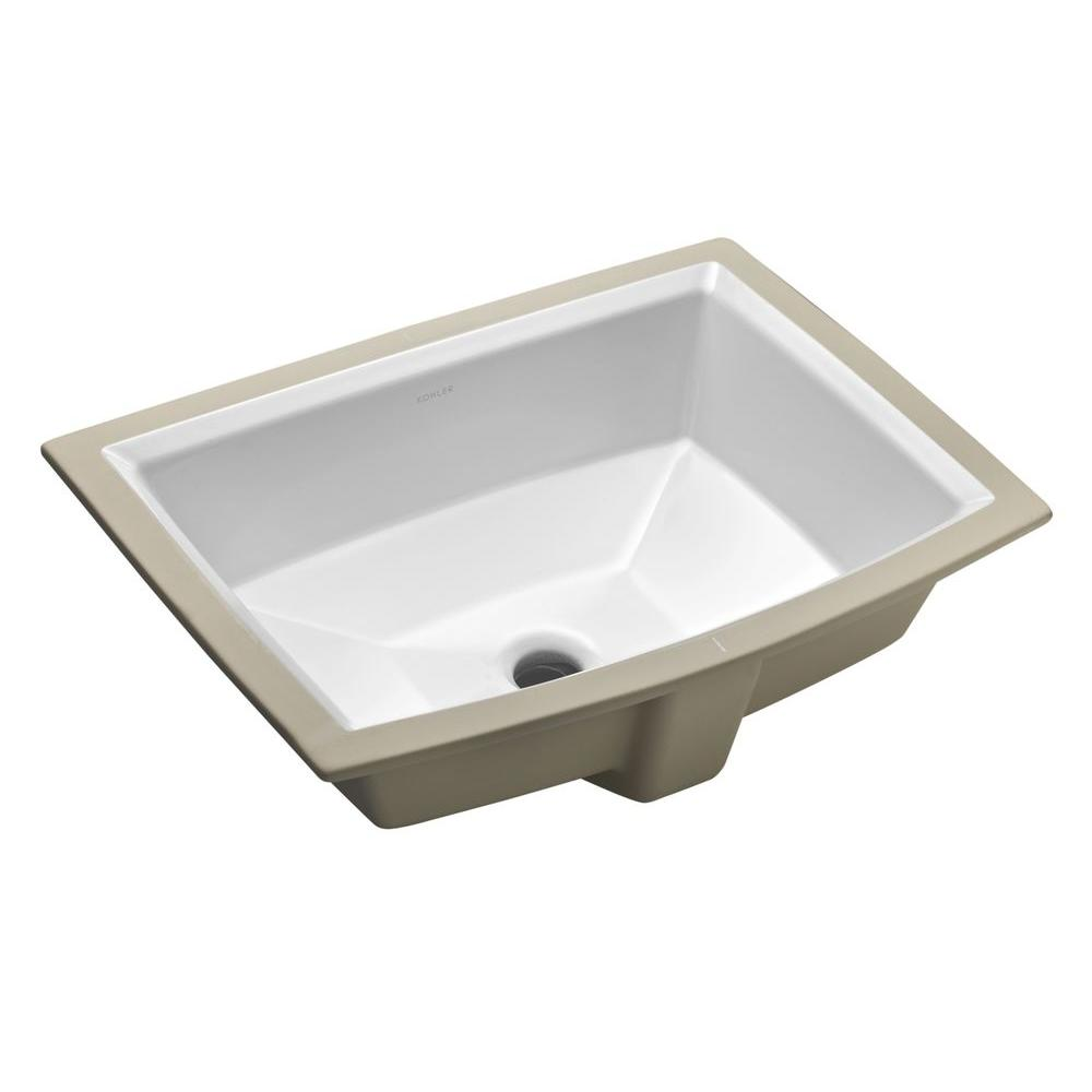 Kohler Archer Vitreous China Undermount Bathroom Sink In White