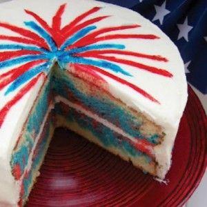 4th of July Firework Cake