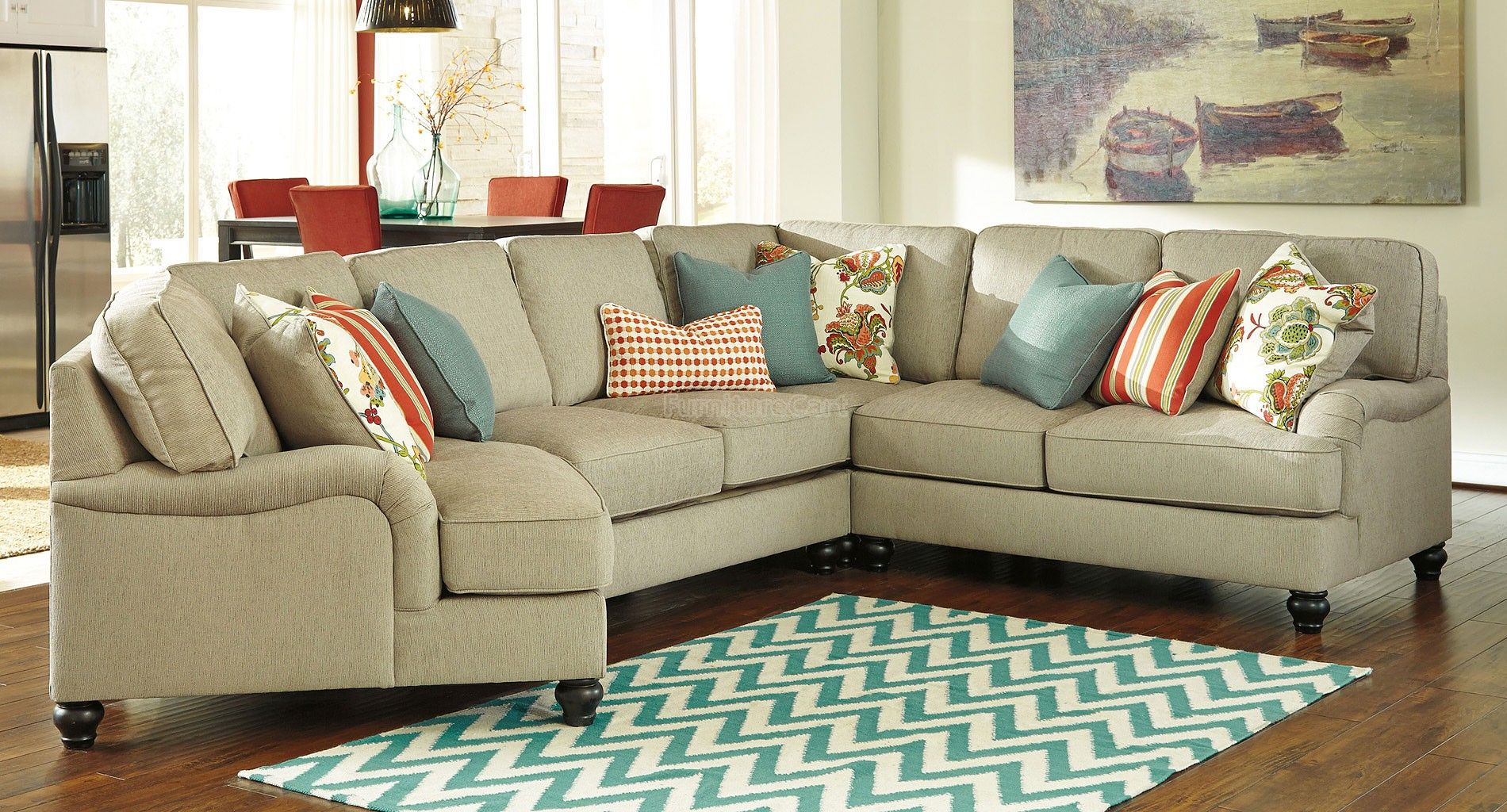 Kerridon Putty Modular Sectional W Cuddler In 2020
