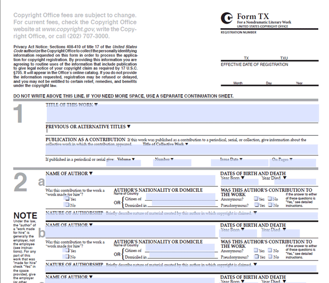 Sample Copyright Form  Aiga Article Navigating The Copyright