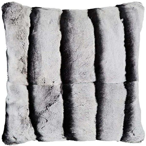 Adrienne Landau Rabbit Fur Pillow 7 820 Zar Liked On Polyvore Featuring Home Home Decor Throw Pillows Grey Faux Fur Decor Grey Throw Pillows Fur Pillow