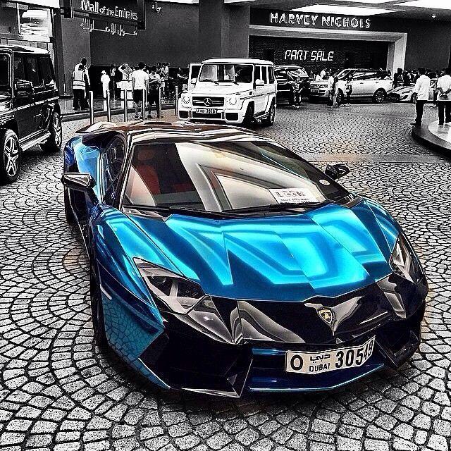 lamborghini blue chrome lamborghini aventador - Lamborghini Aventador Blue Chrome