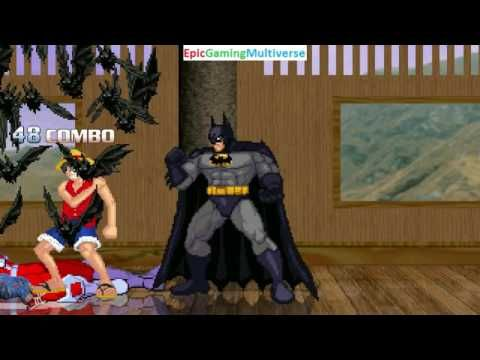 Batman And Monkey D Luffy VS Chucky The Killer Doll Omega Red In A MUGEN Match Battle Fight This Video Showcases Gameplay Of