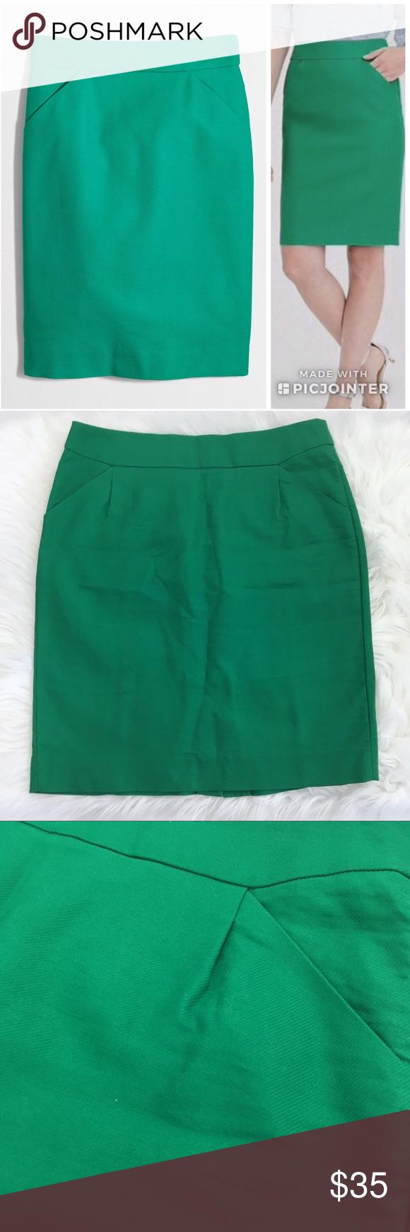 1978ffeeaa Emerald Green Pencil Skirt