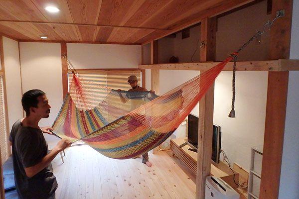 わが家にも設置可能 室内用ハンモックのある生活 ハンモック 室内