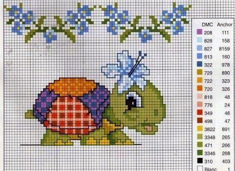 schema punto croce tartarughe  391a10e7ffd2