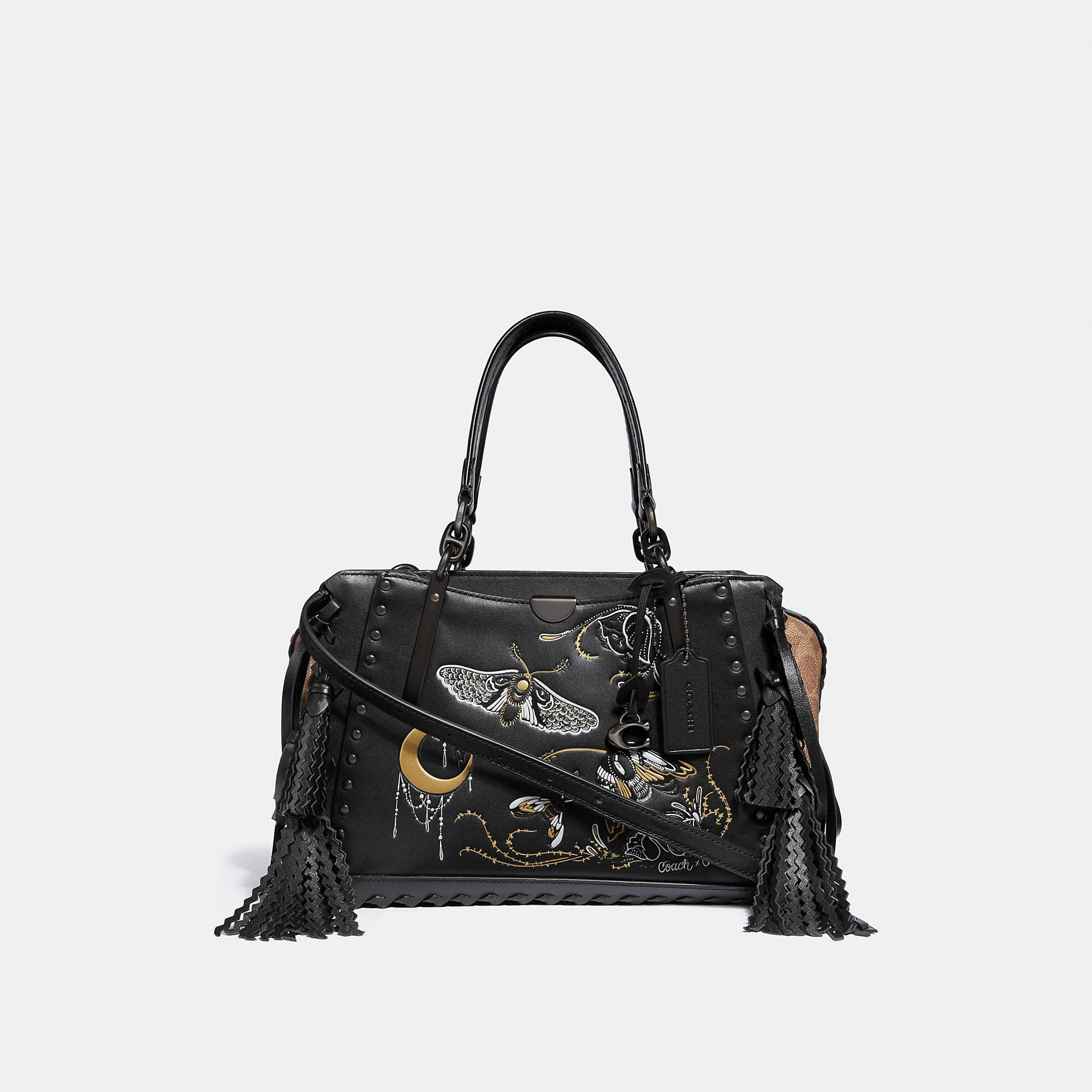 COACH COACH DREAMER IN SIGNATURE CANVAS WITH TATTOO.  coach  bags  canvas   crossbody  leather  lining  shoulder bags  hand bags   12e52222b37a8