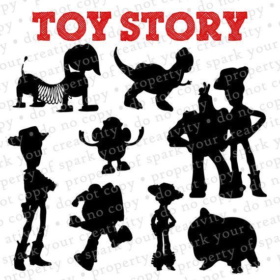 Toy Story Silhouettes // Disney Woody & Buzz Lightyear Silhouette ...