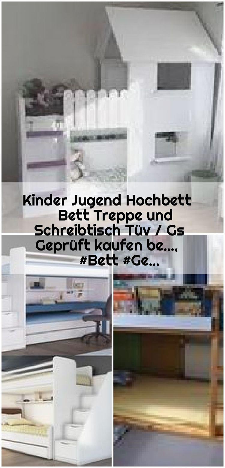Kinder Jugend Hochbett Bett Treppe Und Schreibtisch Tuv Gs