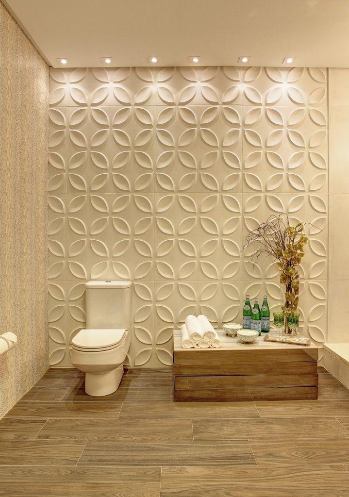 Banheiros | Arquitetura, Texture walls and Interiors