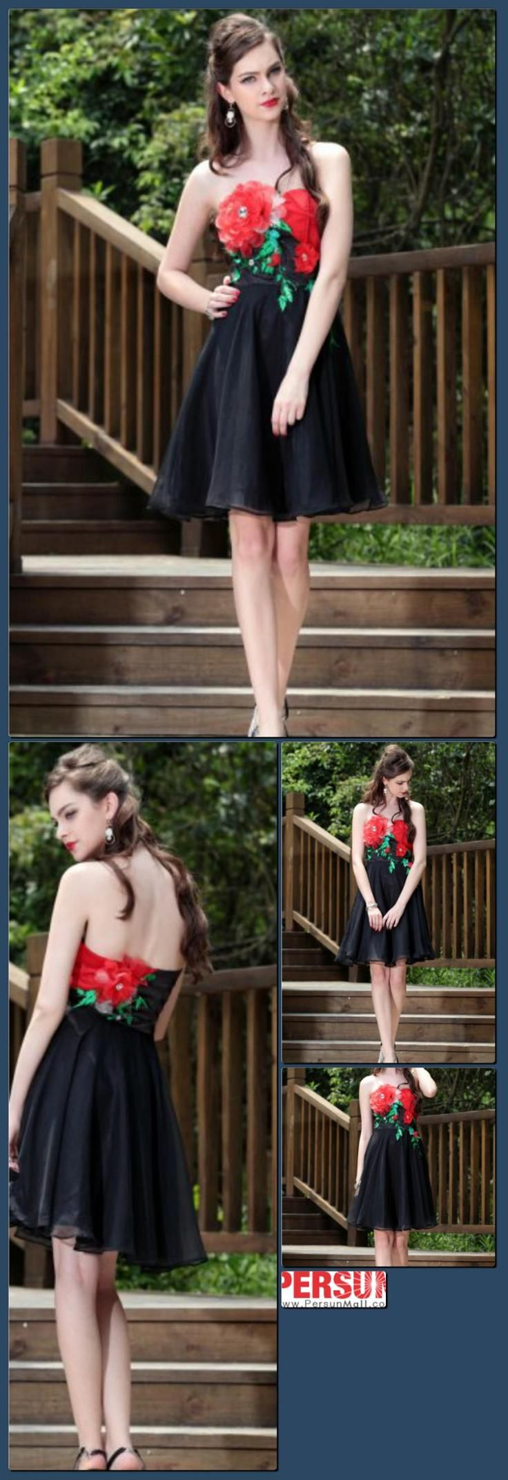 Cute A-line Strapless Sleeveless Chiffon&Satin Knee-length Cocktail Dress [PCBE0779]- US$138.44 - PersunMall.com   http://hoog.li/g?g=http%3A%2F%2Fwww.persunmall.com%2Fp%2Fcute-aline-strapless-sleeveless-chiffonsatin-kneelength-cocktail-dress-p-2849.html