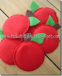 apple bean bags   know I don't have time to make these right now, but they are really cute