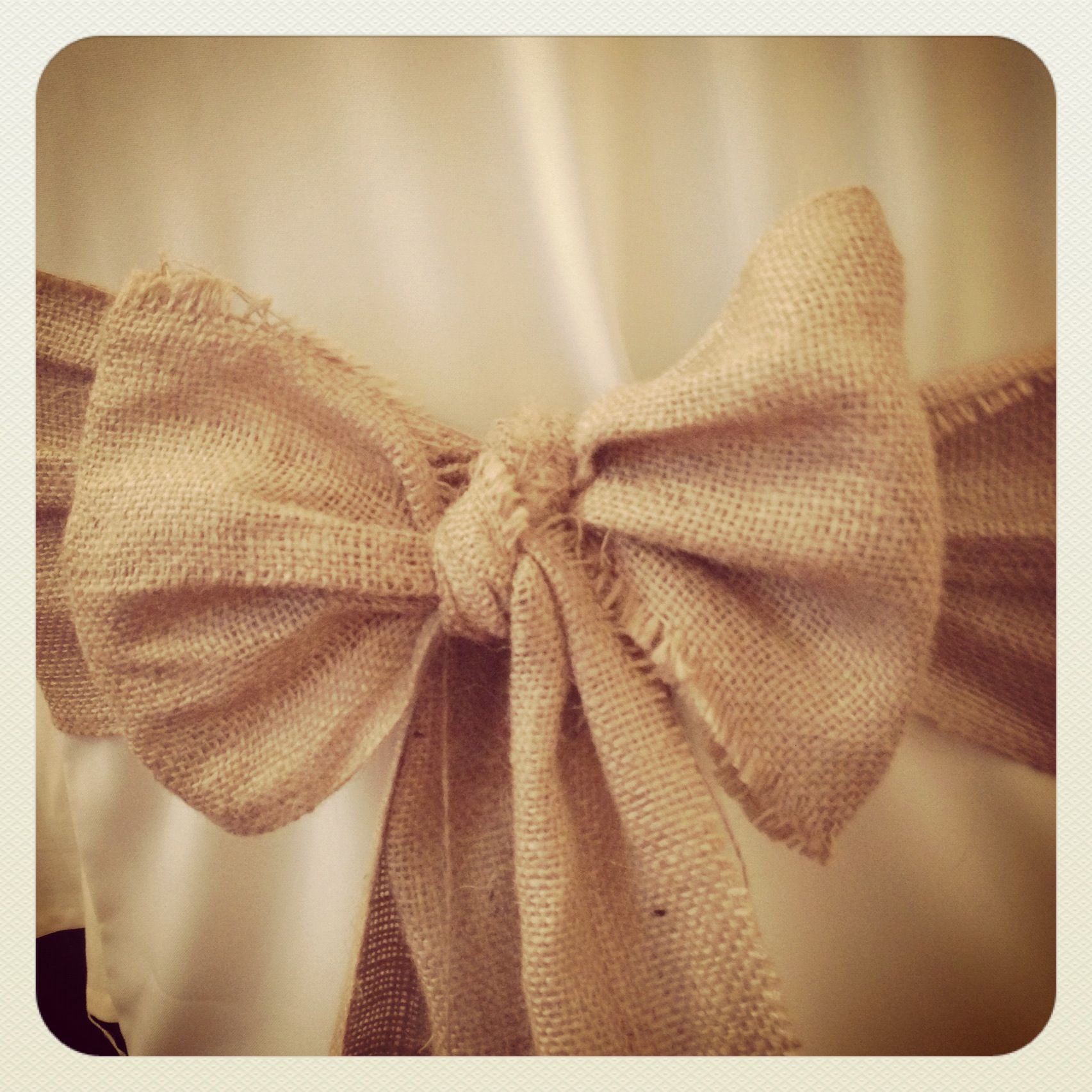 Our new Hessian wedding chair sashes