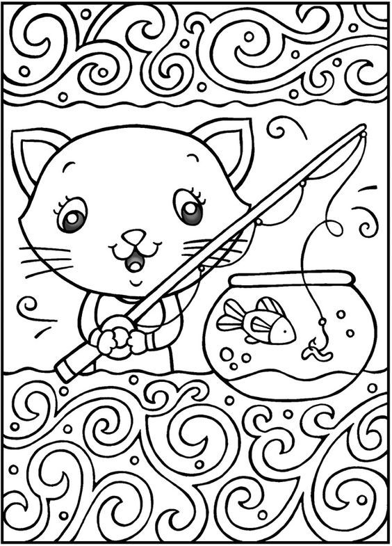 cool-coloring-7.jpg (750×934) | Animal coloring pages, Cat ... | 785x564