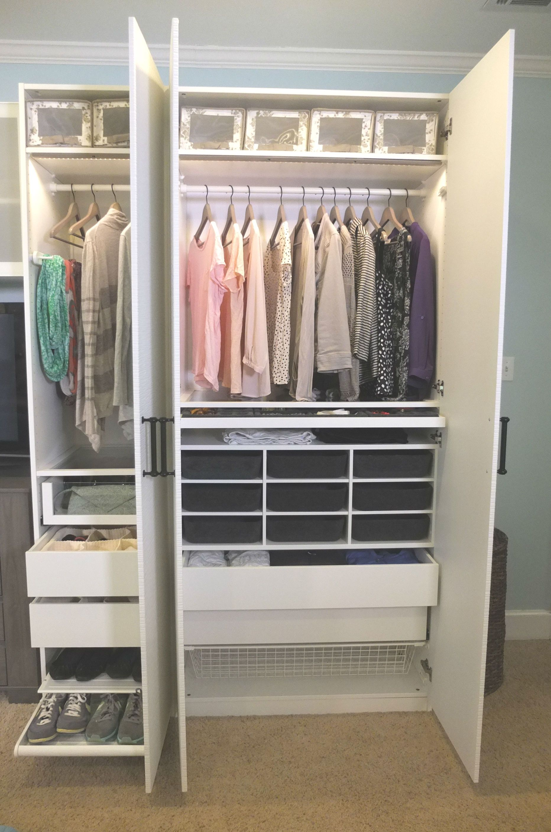 A personalized PAX wardrobe provides the storage you need
