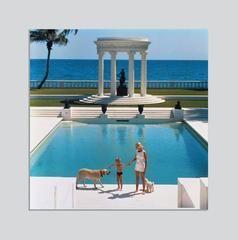'Nice Pool' (Chromalux Aluminium Print) Sim Arons 1965
