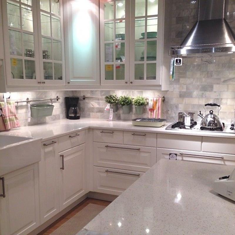 Best Inexpensive White IKEA Kitchen Cabinets 11 - DecoRecent