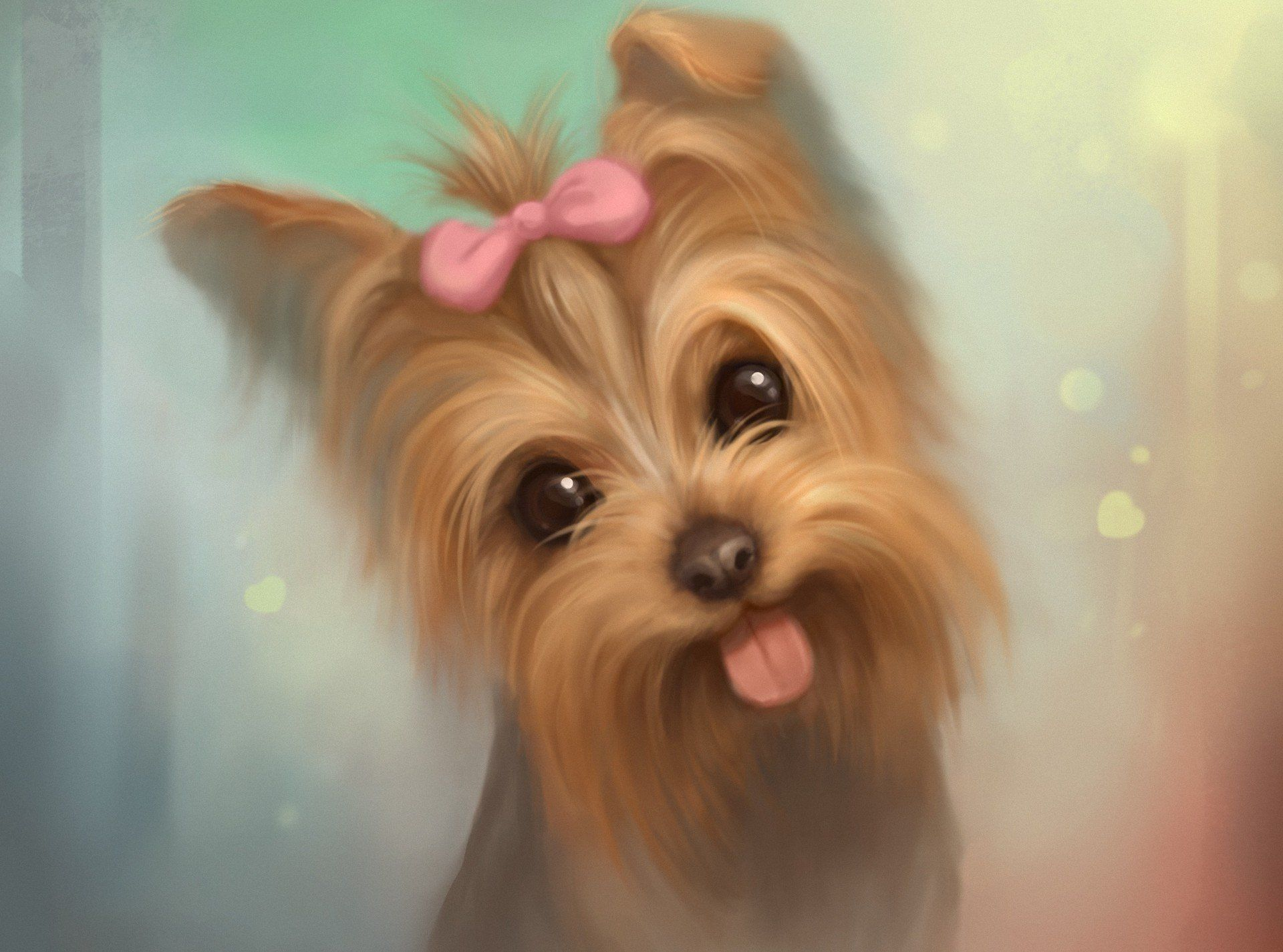 Dogs Photo Puppy Cute Puppy Wallpaper Puppy Wallpaper Yorkie Painting