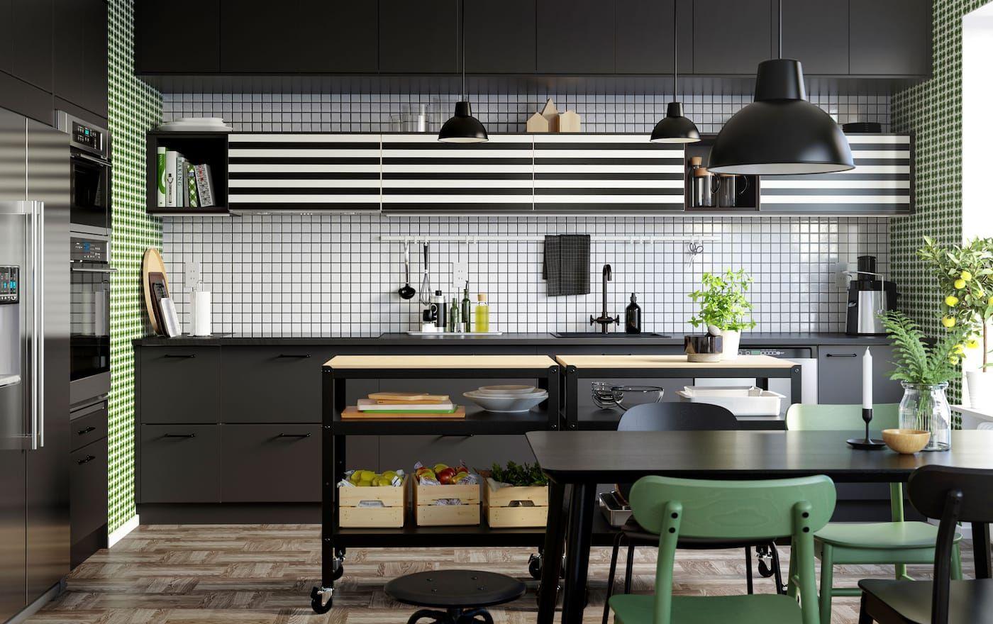 Striped to perfection Ikea kitchen interior, Kitchen