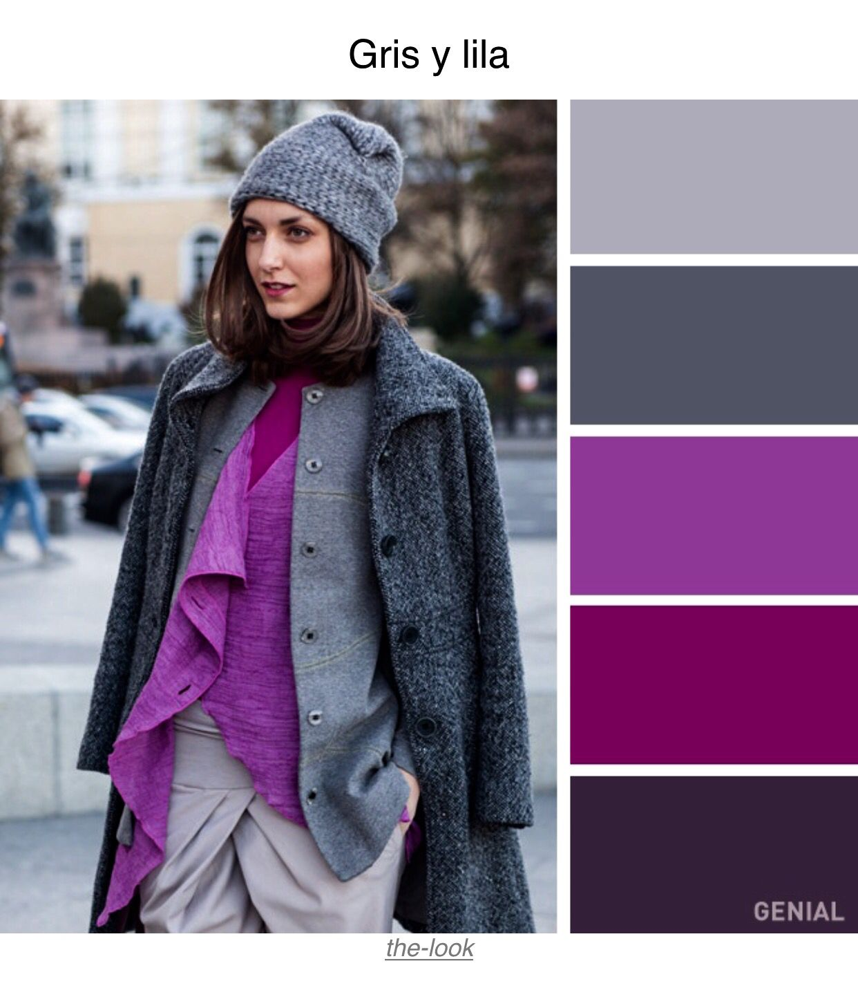 Gris Y Lila Color Combinations For Clothes Color Combinations Colour Combinations Fashion