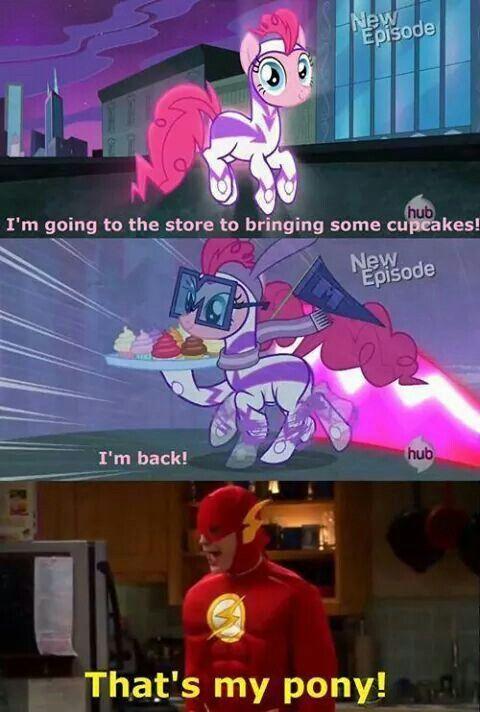 Sheldon and Pinkie Pie