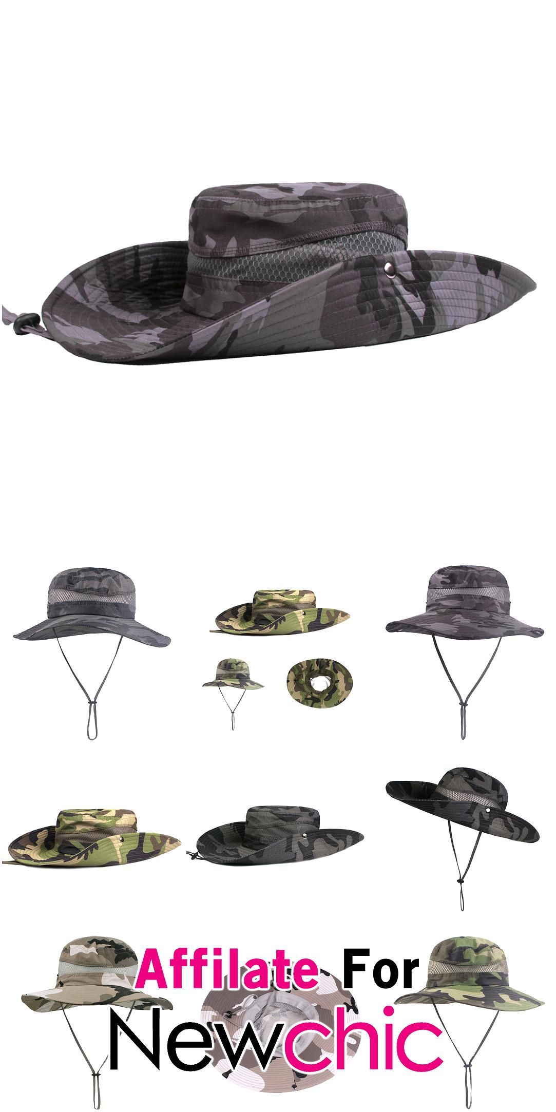 Mens Twill Side Snap Chin Cord Hat Wide Brim Bucket Cap Windproof Fishing Hats Sunshade Cap USD 117 Mens Twill Side Snap Chin Cord Hat Wide Brim Bucket Cap Windproof Fish...