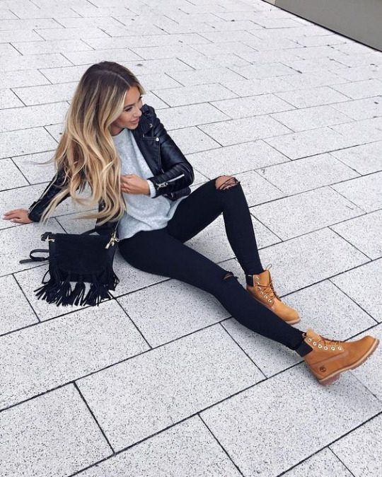 790224ce6 How To Wear Timberland Boots If You Are A Girl - Outfits With ...