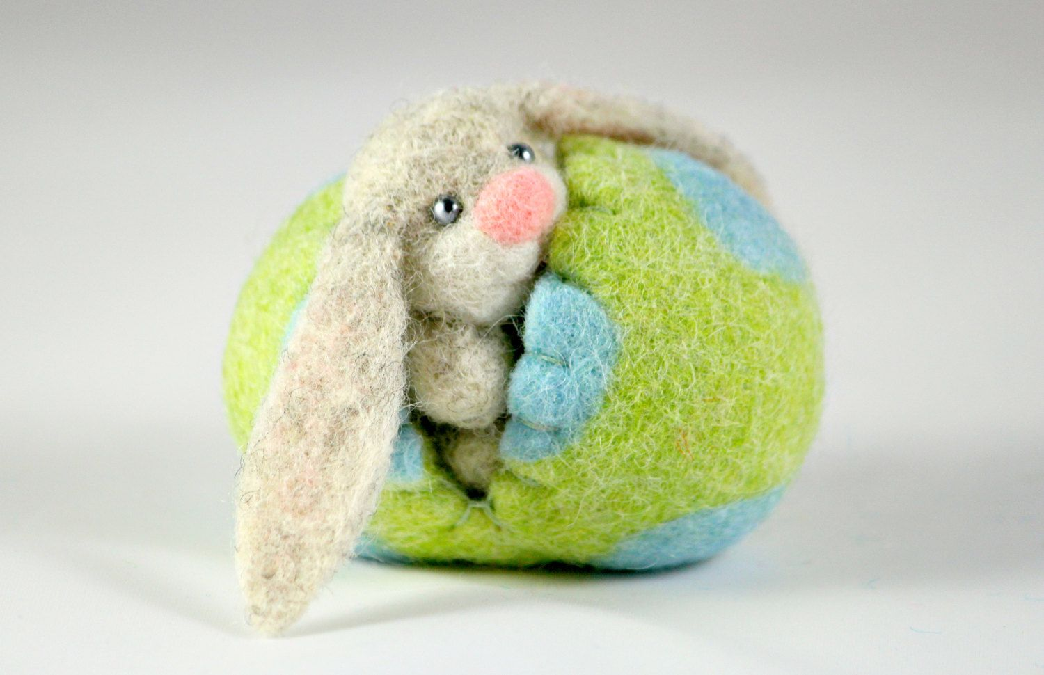 Easter Bunny in an Easter Egg. Miniature Easter. Easter door MiaPuPe