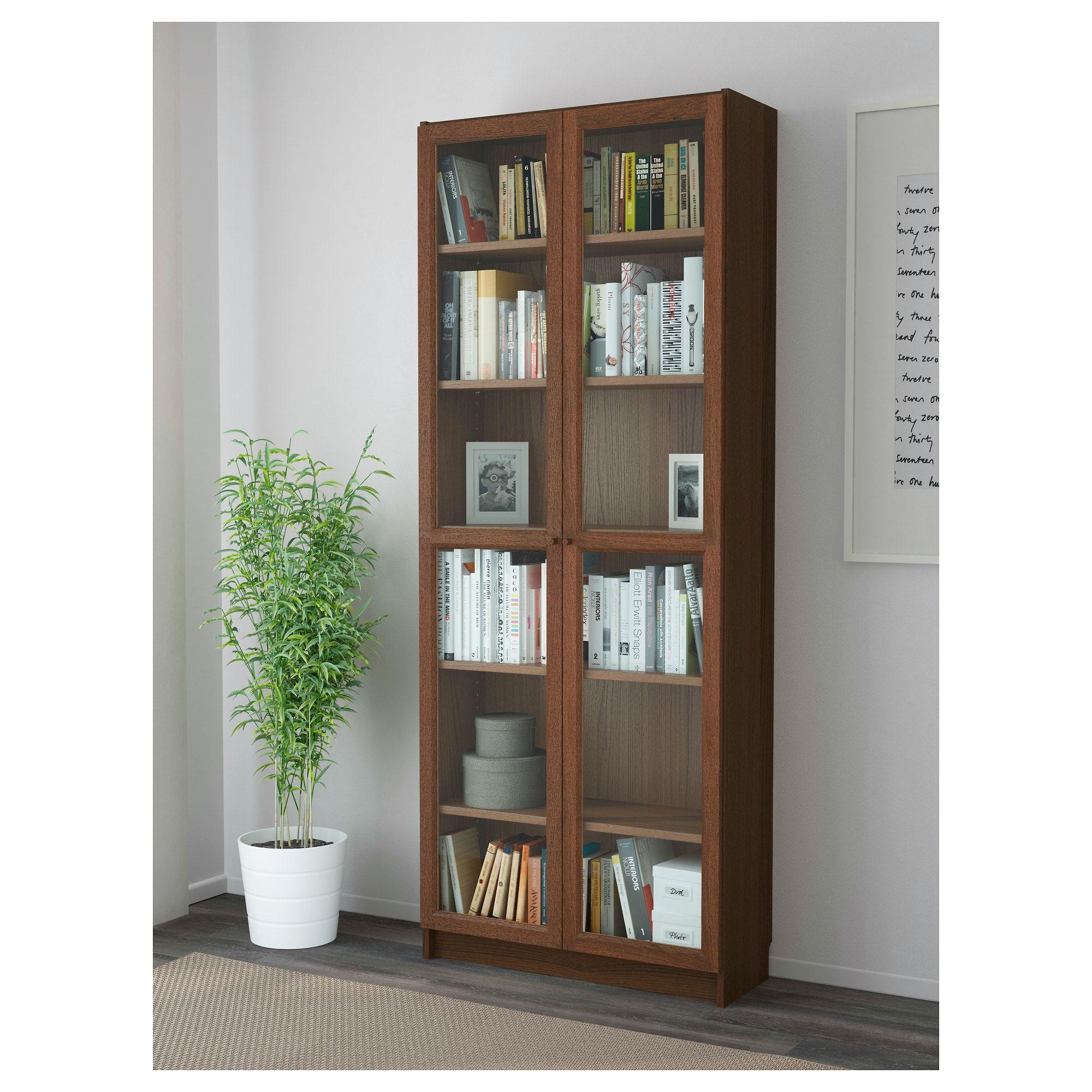 Billy Oxberg Bookcase  Brown Ash Veneer  Ikea