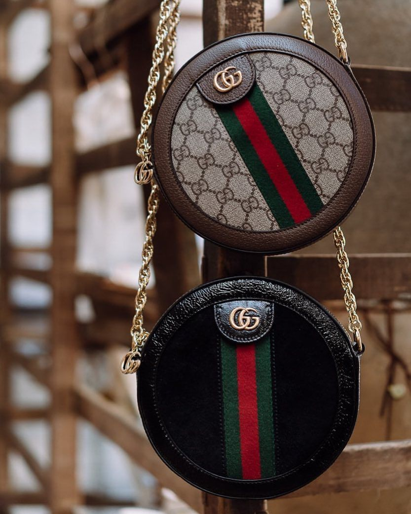 "8d6dcfc50a7 PurseBlog on Instagram  ""The perfect round bag in iconic Gucci style ..."