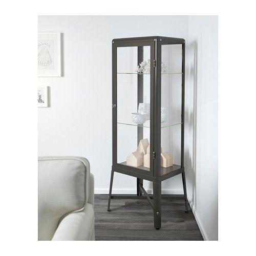 FABRIKÖR Vitrína - tmavě šedá - IKEA