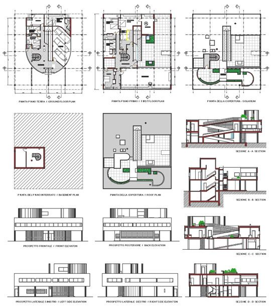 villa savoye plan drawings ㅅ Pinterest Villas, Drawings and Arch - logiciel dessin maison gratuit