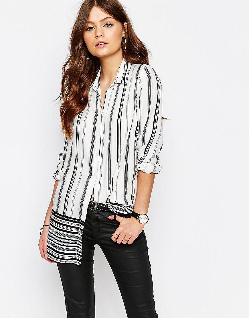 d2c09d7e6e New Look Multi Stripe Shirt | My P. G | Shirt blouses, Shirts, Blouse