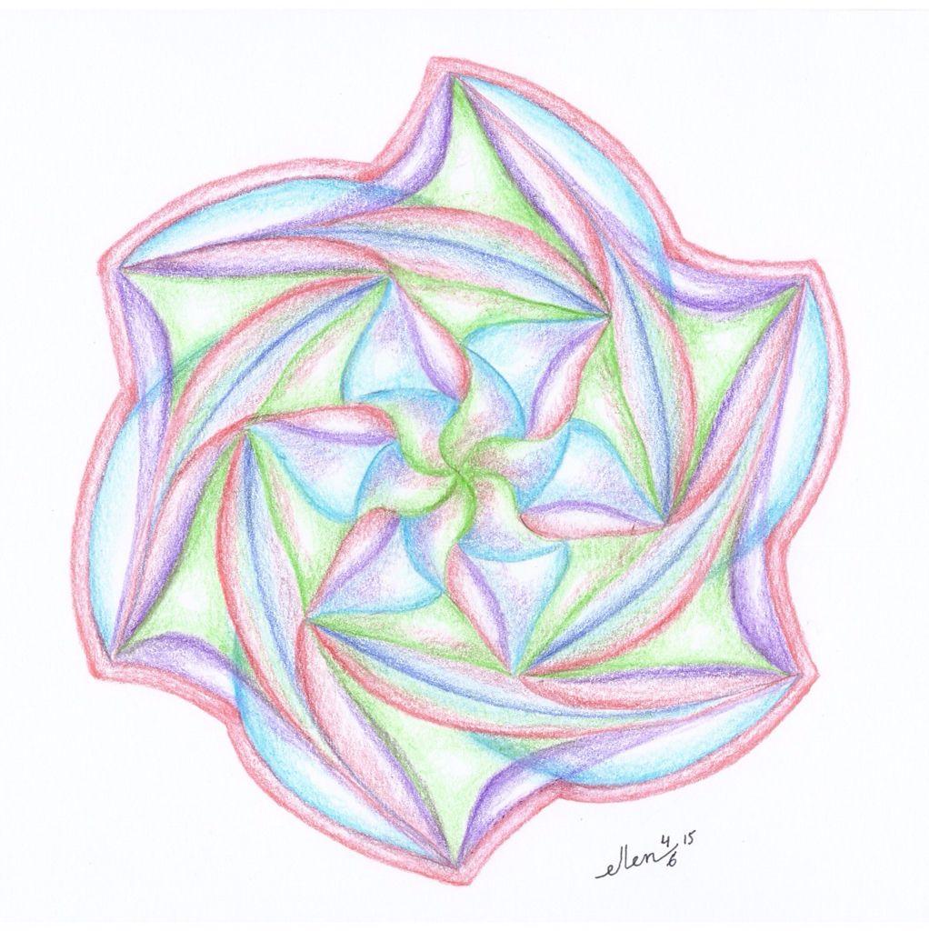 Dynamische Rozet Mandala Mandala Tekenen Geometrie Kunst