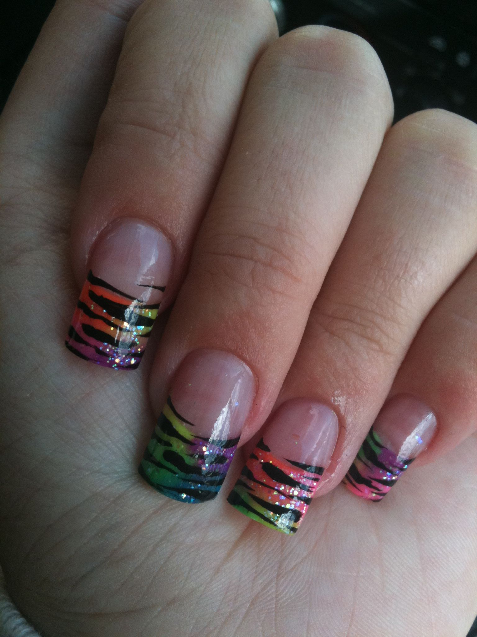 Nail Designs Zebra Stripes Acrylic Nails Designs Zebra