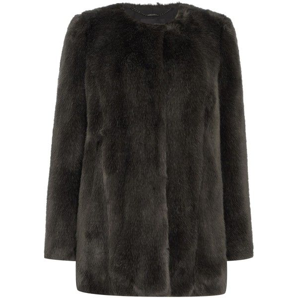 Pied a Terre Bree faux fur coat (4.885 RUB) ❤ liked on Polyvore ...