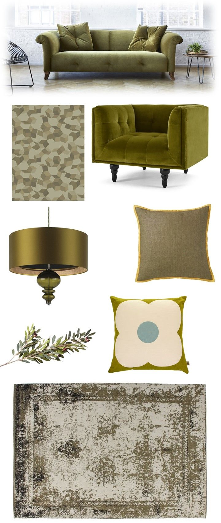Olive Green Living Room Ideas | Green living room ideas, Green ...